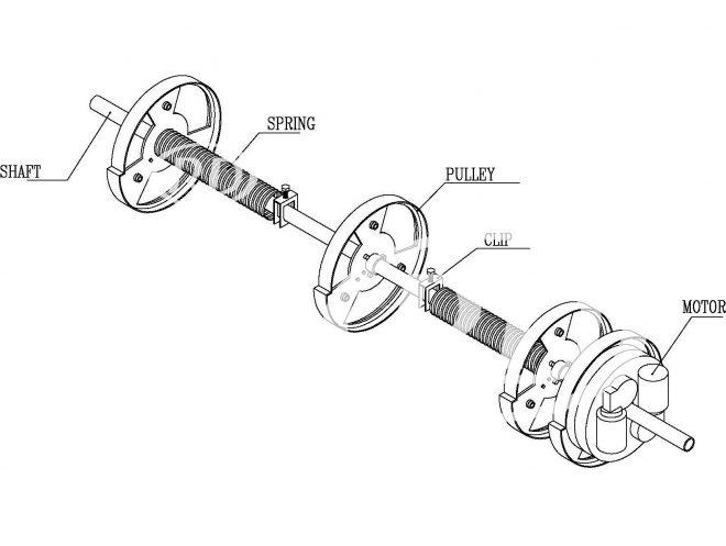 roller door shaft assembly