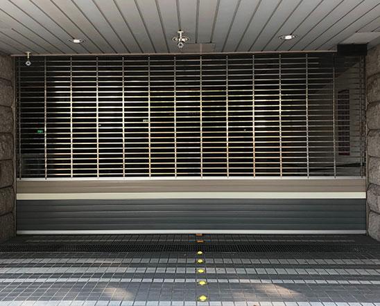 stainless grille roller shutter door