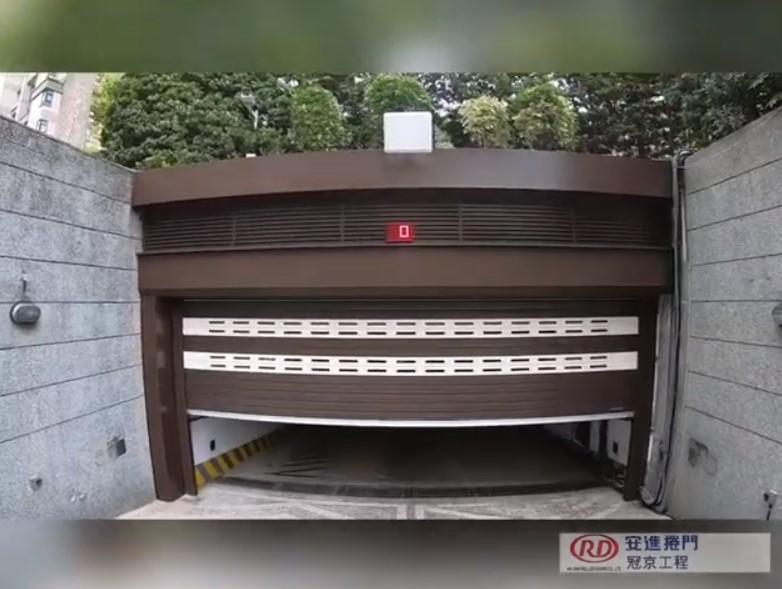 Aluminum roller shutter door with LED timer for Public Parking